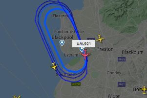 The aircraft was circling at 21,000 feet, according to radar data (Picture: Flight Radar)