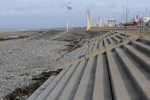 Wyre council have closed the storm gates at Cleveleys beach today, in addition to  gates at Fleetwood and Knott End.
