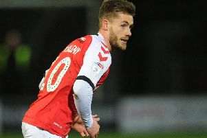 Conor McAleny came off the bench against Coventry on Tuesday for what may prove to be his last Fleetwood appearance