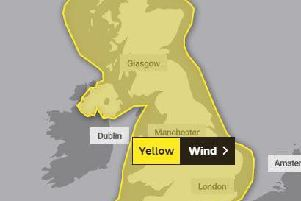 A yellow weather warning for wind has been issued for the whole of the UK. (Credit: Met Office)