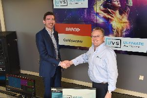 Andrew Dowsett (left) and Steve Murphy at the UVS northern HQ in Burnley,