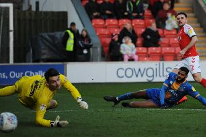 Lewie Coyle scored his first Fleetwood Town goal last month