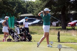 The Midlands North region Ladies golf week gets underway, here with the Notts team, Hollinwell, United Kingdom, 24th June 2018. Photo by Glenn Ashley.