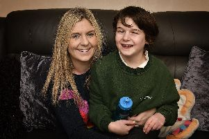 Jo Parrott and her 11-year-old son Rhys Mallinson.