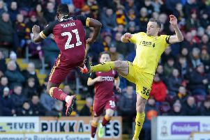 James Wallace in the thick of the action at Bradford