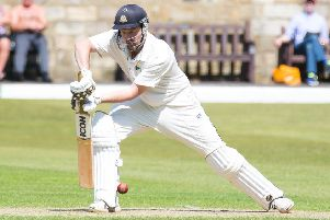 Actions from the game, Todmorden v Rochdale, at Todmorden CC. Pictured is Chris Schofield