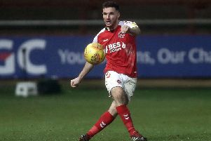 Fleetwood's Lewie Coyle switched from full-back to central midfield against Luton