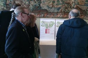 Members of the public at Rudding Park Hotel attending the public consultation over the Crescent Gardens plans.