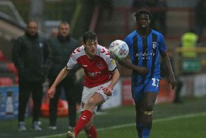 Ashley Nadesan came off the bench against Gillingham
