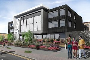 An artist's impression of the proposed CAPA College building on Mulberry Way, Wakefield. The application will go before Wakefield Council next week.