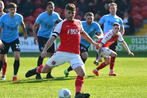 Skipper Ched Evans equalises from the penalty spot for Fleetwood against Southend