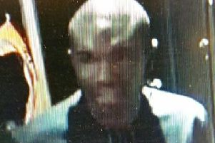 The man is described as being black with a shaven head and a strong African accent. Pic - Lancashire Police