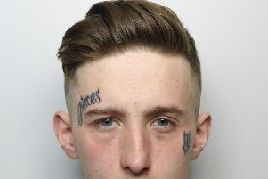 Tyler Griffiths, aged 22 of Bower Street, Harrogate has been jailed for robbing the Pellon Lane newsagents in Halifax. Photo: West Yorkshire Police.