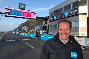 Christian Prudhomme after the finish of the Yorkshire coast stage of this year's Tour. Picture: Steve Bambridge