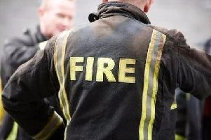 Firefighters were called at 3.15pm