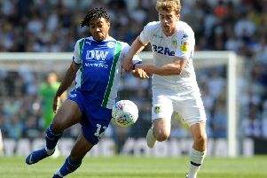 Patrick Bamford, available again for Leeds United after suspension.
