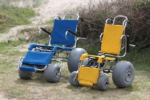 It is proposed to bring beach wheelchairs like this to Fleetwood