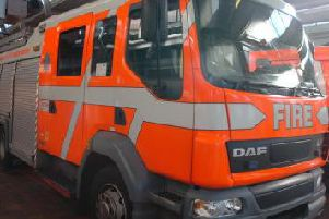Two fire crews from Burnley were called to the blaze