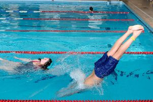 Fleetwood Swimathon went ahead today, at the town's YMCA pool.