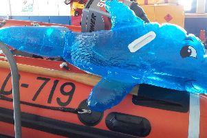 Fleetwood Lifeboat rescued a youngster playing on this inflatable in the sea