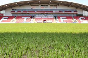 Sowing the seeds for success at Highbury this summer  Picture: FLEETWOOD TOWN