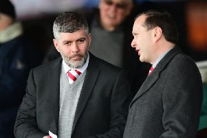 Steve Curwood (left) is one of two League One representatives on the EFL Board