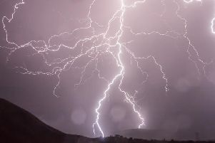 Thunderstorms are expected to hit Derbyshire later today.