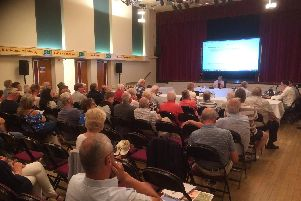 The public meeting into the new A585 bypass, staged at Thornton Little Theatre