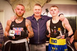 Harrogate ABC's Conner Tiki Irving, right, suffered a narrow defeat to Ben Thompson, left.