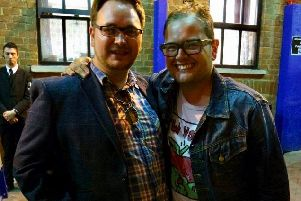 Liam Halewood with Alan Carr