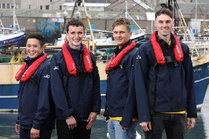 Seafishs Fleet Survey Researchers - Juan Carlos Paredes Esclapez, Ross Blakemore, Oscar Wilkie and Joe Cooper