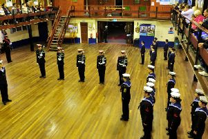 Fleetwood Sea Cadets, seen here during an annual inspection night, have several teams in the National Regatta in London, at the end of August