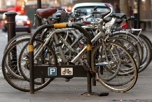 Bicycle parking in London.