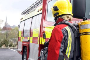 Firefighters were called to the incident at midday.