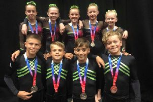 Scarborough Gymnastics Academy show off their medals at the British Championships in Liverpool