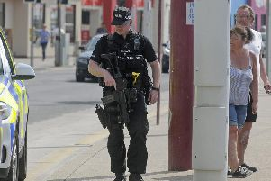 The latest Home Office statistics show there were 102 armed officers in the county in March.