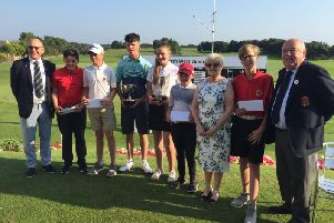 Presentations for the North West Junior Open at Knott End