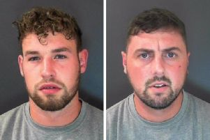 Jailed pair Ryan David O'Hanlan, left, and Christopher Paul Jackson, right, were involved in a mass brawl at the former Harrogate bar The Pit.