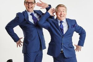 Ian Ashpitel and Jonty Stephens star in An Evening of Eric and Ern at the Baths Hall.