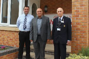 West Lindsey District Coun Matthew Boles, Developer Phil Rann, Coun Keith Panter
