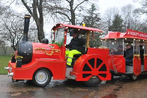 Festive fun last year as families get on board the Santa Express to Astley Park, to meet Father Christmas in Astley Hall.