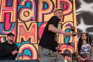 The Happy Mondays are live at the Baths Hall this month