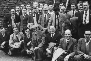 Newell's staff before an outing to Scarborough in 1954