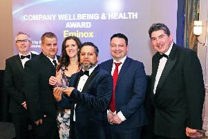 Eminox won the Company Well-being and Health category, as well as being a finalist for the Project of the Year award