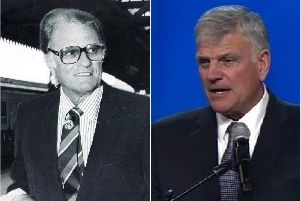Franklin Graham (right) is coming to Sheffield, 35 years after dad Billy.