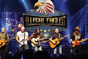 The Illegal Eagles are live at the Baths Hall this weekend.