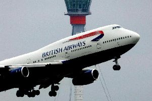 The British Airways jet declared an emergency over the English Channel.