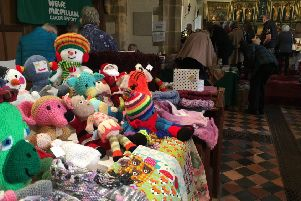 One of the stalls at the Gainsborough Christmas fair