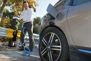 The kind of typical electric car charging point, soon to be installed at Roseway car park in Gainsborough.