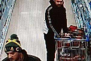 Police would like to speak to the two men pictured in connection with the incident